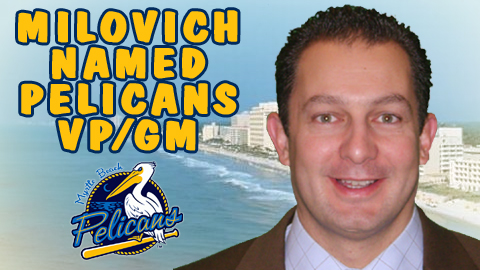 Milovich replaces Scott Brown, who left this month to take over as GM for Triple-A Charlotte.